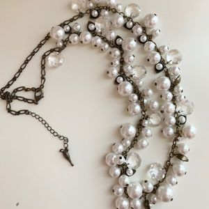 Chloe & Isabel Pearl + Crystal Drop Necklace